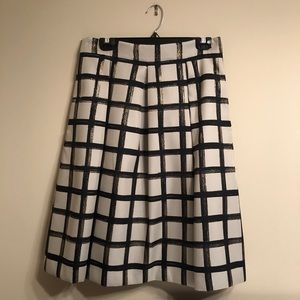 Party Skirt in Metallic Plaid from Eliza J